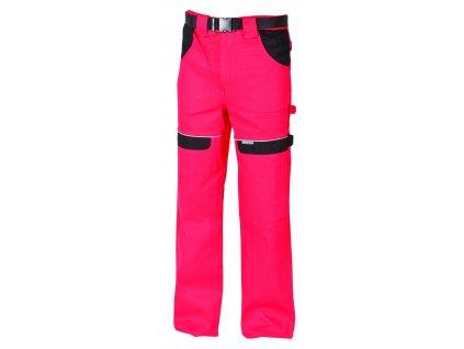 Montérkové kalhoty do pasu COOL TREND červená/černá