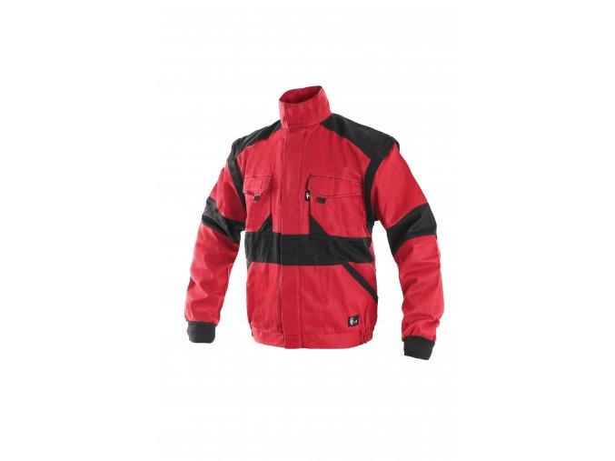 Montérková bunda LUX EDA na výšku 194 cm červeno-černá