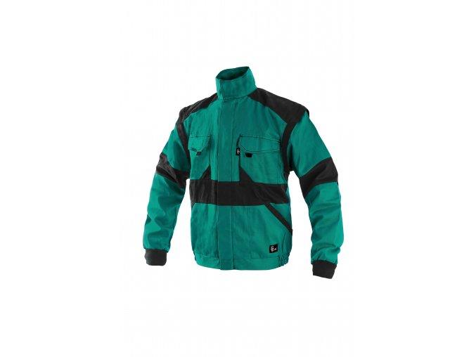 Montérková bunda LUX EDA na výšku 194 cm zeleno-černá