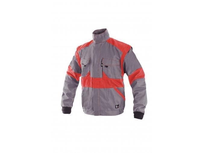 Montérková bunda LUX EDA šedo-červená