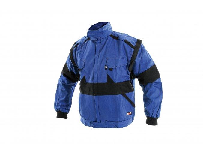 Montérková bunda LUX HUGO zateplená modro-černá