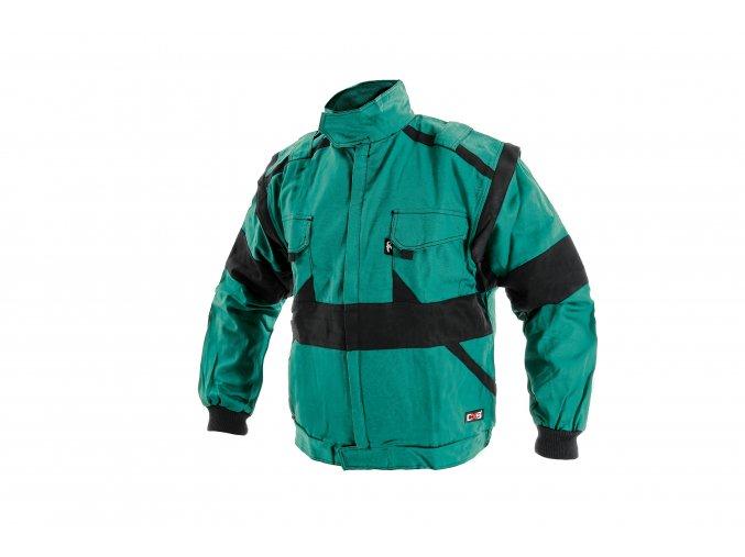 Montérková bunda LUX HUGO zateplená zeleno-černá