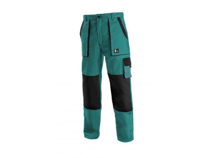 Montérkové kalhoty do pasu JOSEF LUX zeleno/černé