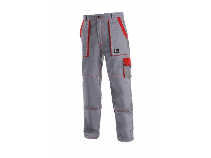 Montérkové kalhoty do pasu JOSEF LUX šedo/červené