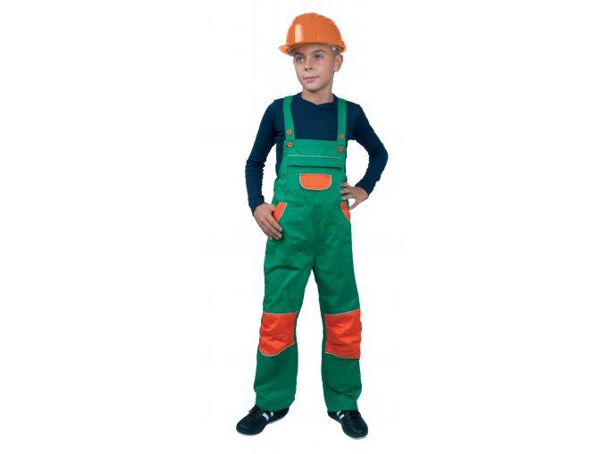 Montérkové kalhoty s laclem dětské PINOCCHIO