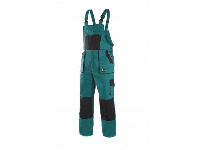 Montérkové kalhoty s laclem EMIL LUX zeleno-černá