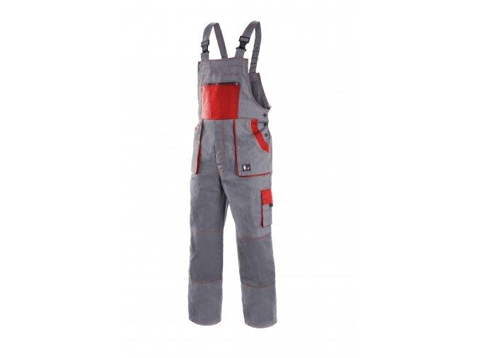 Montérkové kalhoty s laclem EMIL LUX šedo-červená