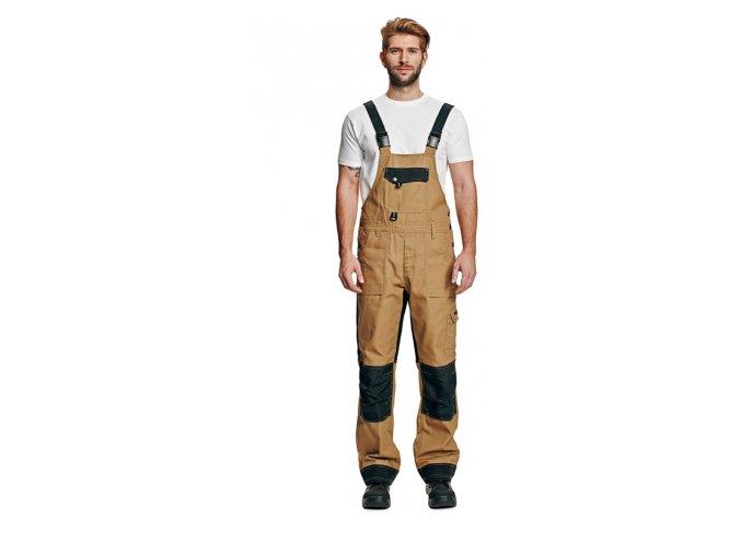 Montérkové kalhoty s laclem NARELLAN béžová / černá