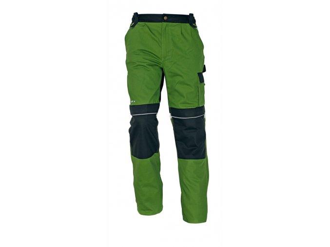 Montérkové kalhoty do pasu STANMORE zelená/černá