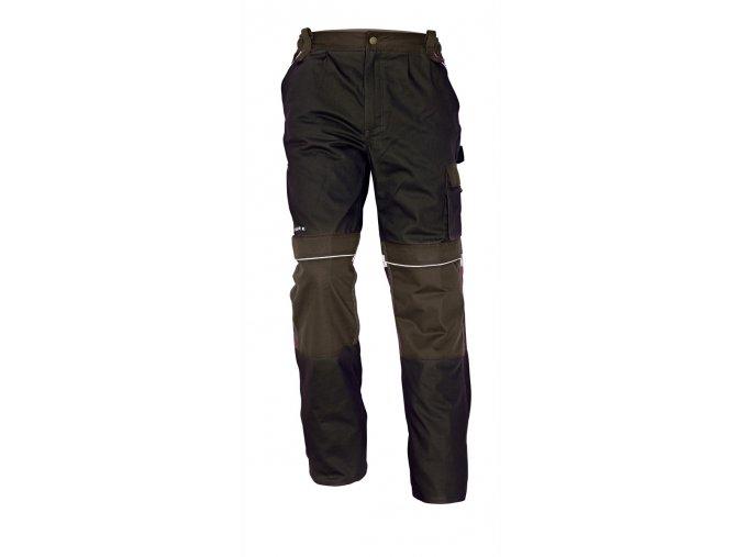 Montérkové kalhoty do pasu STANMORE tmavě hnědá