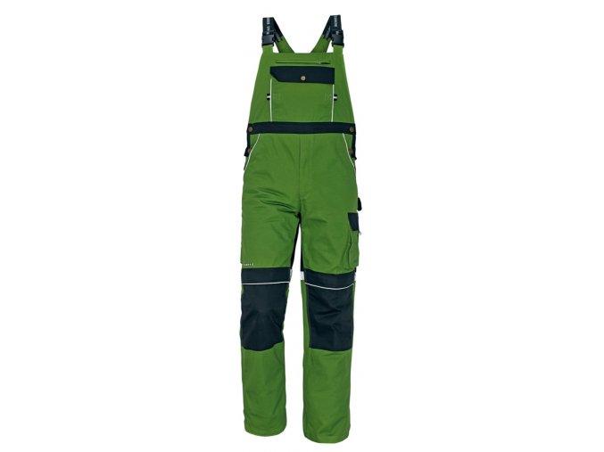 Montérkové kalhoty s laclem STANMORE zelená/černá