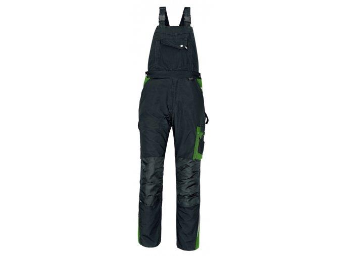 Kalhoty s laclem ALLYN zelená-černá