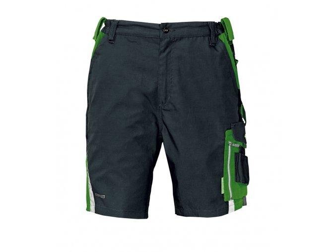 Šortky ALLYN černá-zelená