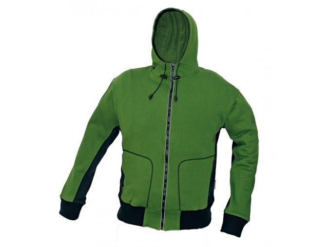 Mikina s kapucí STANMORE zelená