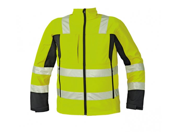 Reflexní softshellová bunda MALTON žlutá