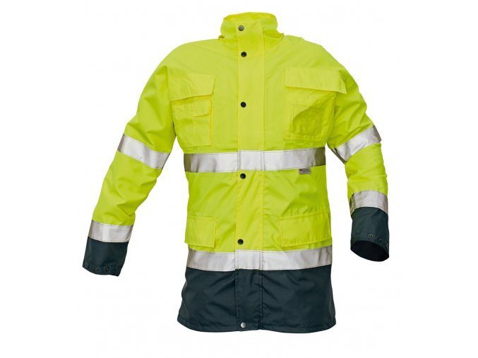 Reflexní zateplená nepromokavá bunda MALABAR 2 v 1 žlutá