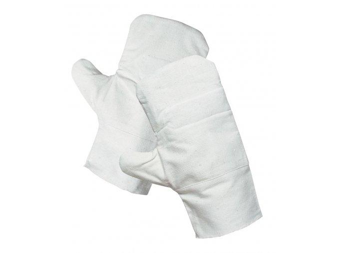 Pracovní rukavice palcové oboustranné bavlněné OUZEL bílá