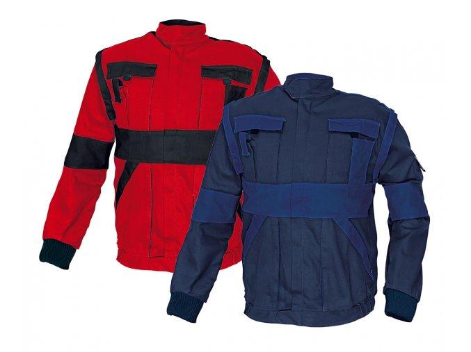 Montérková bunda MAX 2 v 1 červená/černá