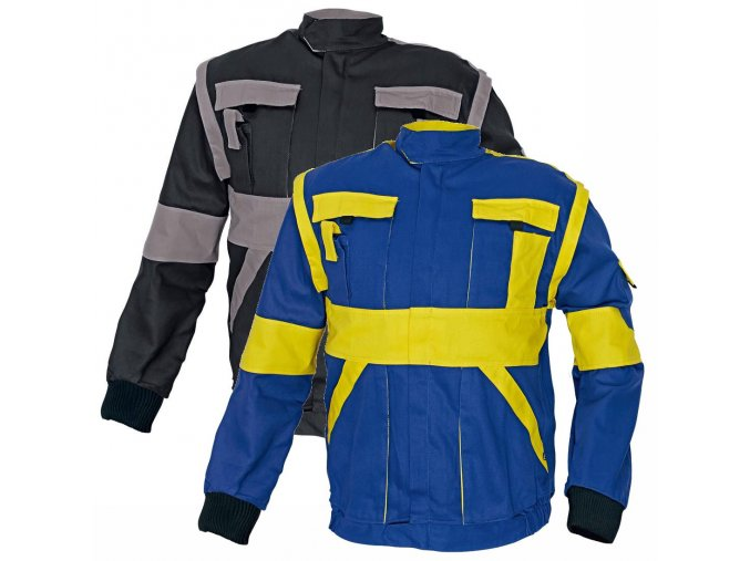 Montérková bunda MAX 2 v 1 modrá/žlutá