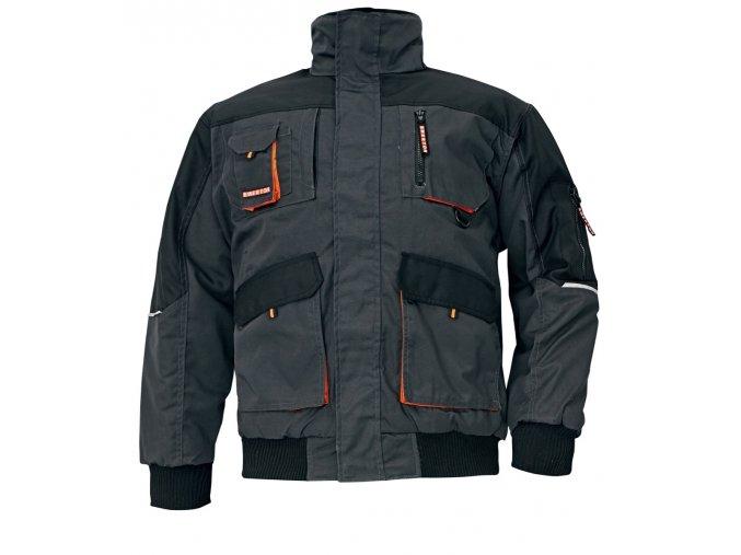 Montérková zimní bunda EMERTON PILOT černá-oranžová
