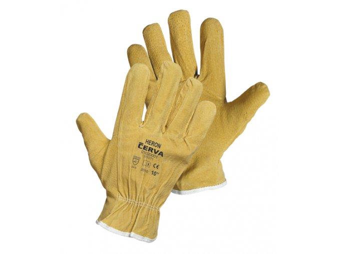 Pracovní rukavice celokožené HERON