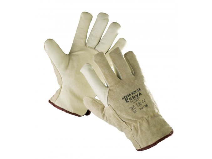Pracovní rukavice celokožené teplé HERON WINTER
