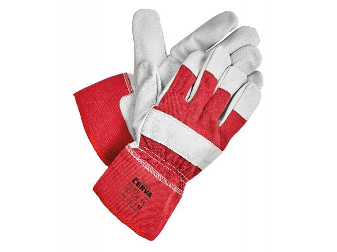 Pracovní rukavice kombinované EIDER červené