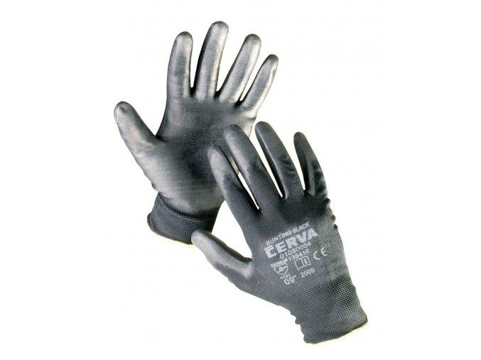 Pracovní rukavice pletené máčené BUNTING BLACK