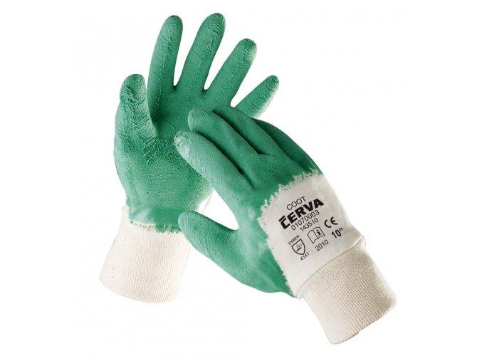 Pracovní rukavice pletené máčené COOT