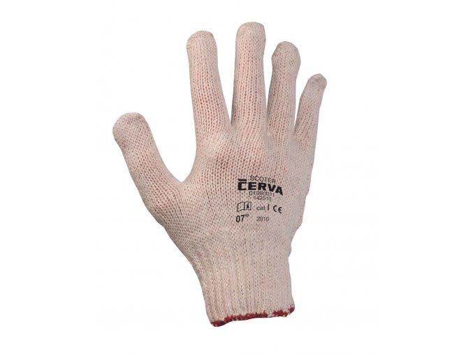 Pracovní rukavice pletené máčené SCOTER