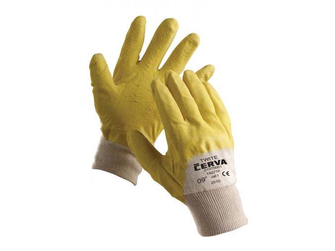 Pracovní rukavice pletené máčené TWITE