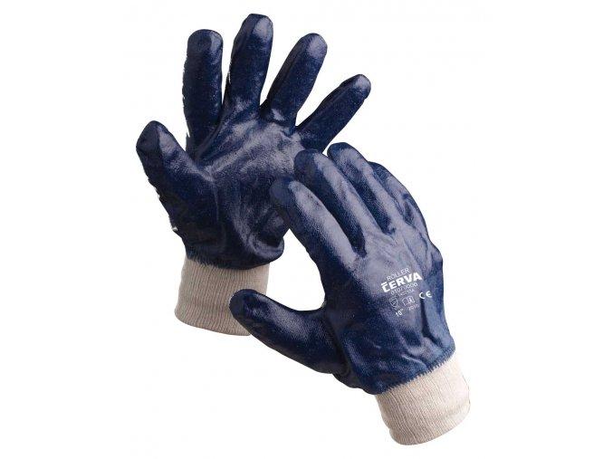 Pracovní rukavice šité máčené v nitrilu ROLLER