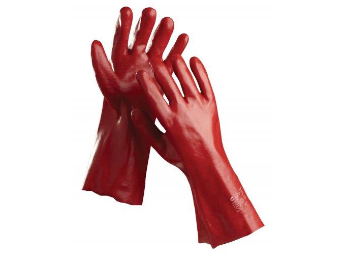 Pracovní rukavice šité máčené v PVC REDSTART