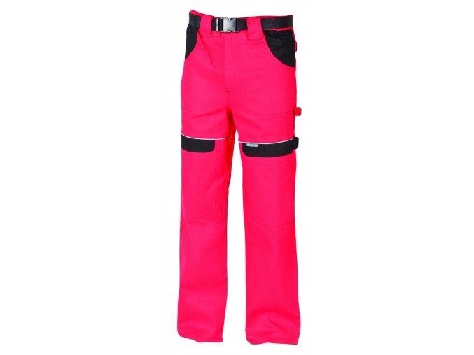 Montérkové kalhoty do pasu COOL TREND na 194 cm červená/černá