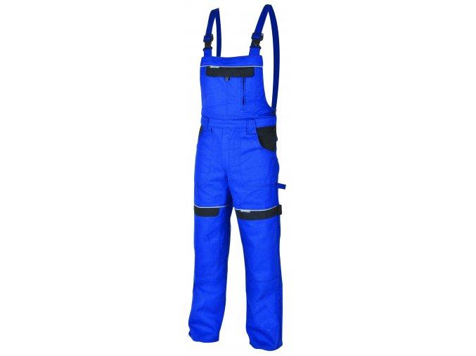 Montérkové kalhoty s laclem COOL TREND modrá/černá
