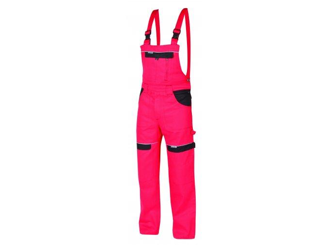 Montérkové kalhoty s laclem COOL TREND na 194 cm červená/černá