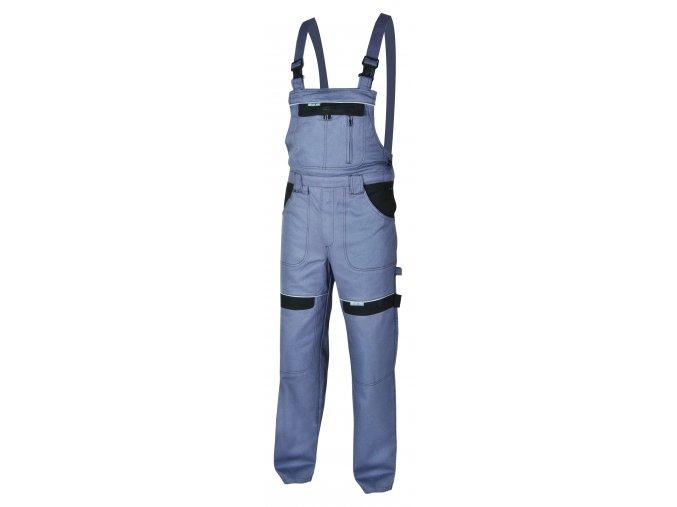 Montérkové kalhoty s laclem COOL TREND šedá/černá