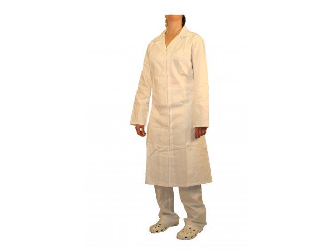 Plášť dámský pracovní bílý, dlouhý rukáv 30.21