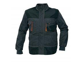 Montérková bunda EMERTON černá/oranžová