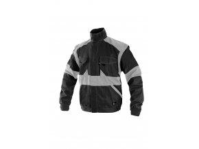 Montérková bunda LUX EDA černo-šedá