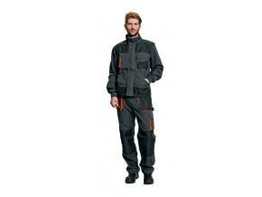 Montérkové kalhoty do pasu EMERTON  černá/oranžová