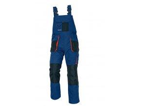 Montérkové kalhoty s laclem EMERTON modrá/oranžová