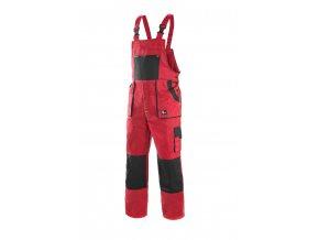 Montérkové kalhoty s laclem EMIL LUX červeno-černá