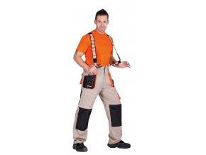 Kalhoty s laclem 4 v 1 SUMMER EMERTON béžová/černá
