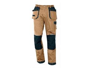 Montérkové kalhoty do pasu OLZA béžová