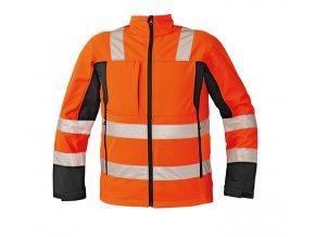 Reflexní softshellová bunda MALTON oranžová