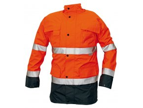 Reflexní zateplená nepromokavá bunda MALABAR 2 v 1 oranžová