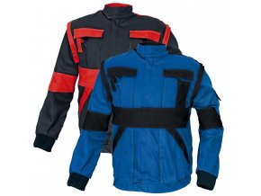 Montérková bunda MAX 2 v 1 černá/červená