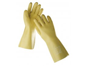 Pracovní rukavice máčené v PVC STANDARD 35 cm žlutá
