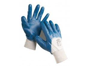 Pracovní rukavice šité máčené v nitrilu HARRIER